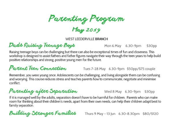 Parenting Program May 2019 – West Leederville Branch