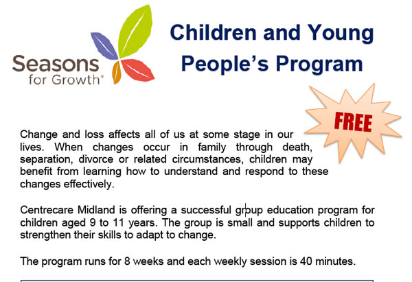 Children and Young People's Program – Seasons for Growth