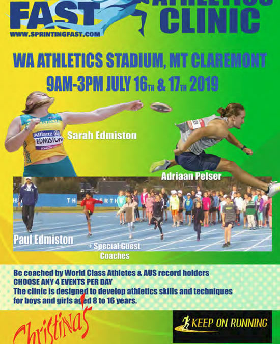 Sprinting Fast Athletics Clinic