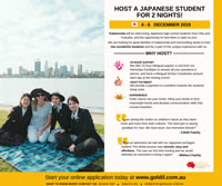 Host a Japanese Student for 2 Nights