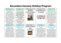 Kids Inn – January Holiday Program