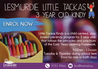Lesmurdie Little Tackas – 3 YO Kindy
