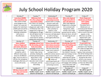 Kids Inn – July School Holiday Program 2020