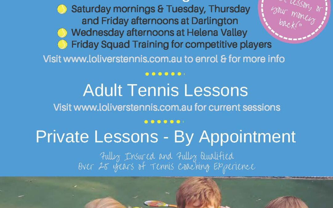 Tennis Coaching for Children age 3 – 16