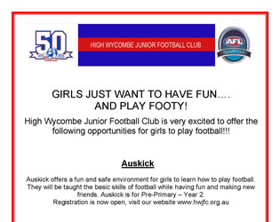 Girls Just Want to Have Fun…. and Play Footy!