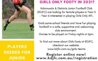 Girls only Footy in 2021