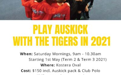 Play Auskick with the Tigers in 2021